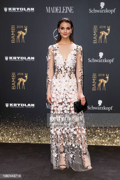 Luise Befort wearing Cartier jewelry arrives for the 70th Bambi Awards at Stage Theater on November 16 2018 in Berlin Germany