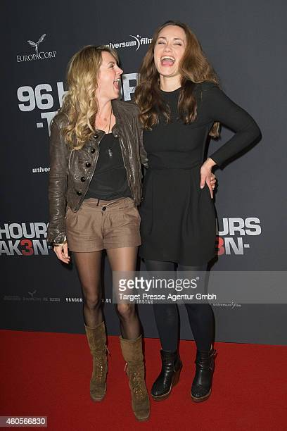 Luise Behr and Sarah Maria Besgen attend the premiere of the film '96 Hours - Taken 3' at Zoo Palast on December 16, 2014 in Berlin, Germany.