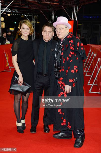 Luise Heyer Hanno Koffler and Director Rosa von Praunheim attend the 'Tough Love' premiere during the 65th Berlinale International Film Festival at...