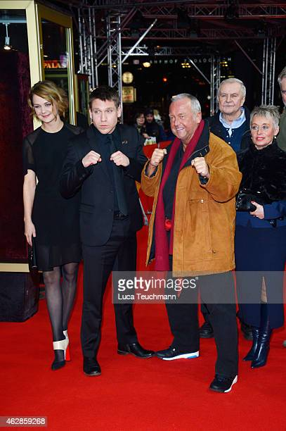 Luise Heyer Hanno Koffler Andreas Marquardt and Juergen Lemke attend the 'Tough Love' premiere during the 65th Berlinale International Film Festival...