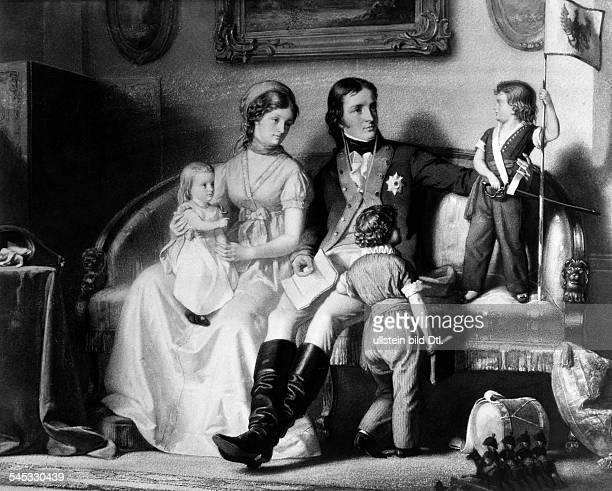 Luise Koenigin von Preussen *1003177619071810 Aus dem Hause MecklenburgStrelitz mit ihrem Mann Friedrich Wilhelm IIIund aeltesten Kindern...