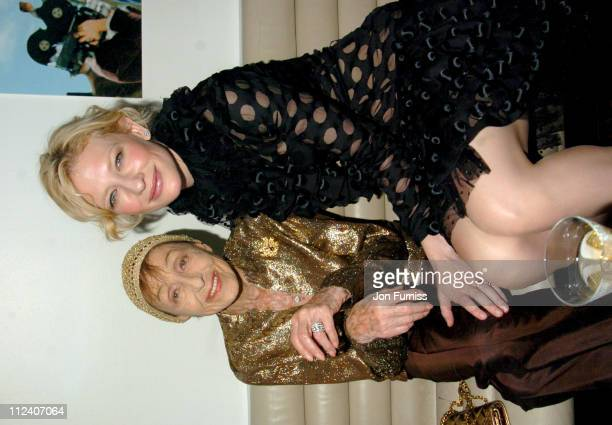 Luise Rainer and Cate Blanchett during The Aviator London Premiere After Party Inside at Harvey Nichols in London Great Britain