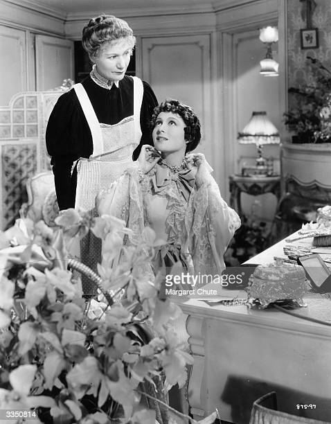 Luise Rainer plays Anna Held in the film 'The Great Ziegfeld' a biopic of the Broadway impresario Florenz Ziegfeld