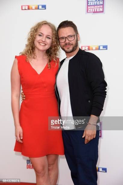 Luise von Finckh and Thomas Drechsel attend the 25th anniversary party of the TV show 'GZSZ' on May 17, 2017 in Berlin, Germany.