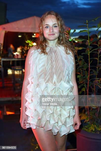 Luise von Finckh attends the BUNTE New Faces Award Film at Spindler & Klatt on April 26, 2018 in Berlin, Germany.