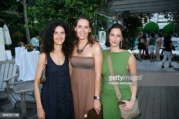 Luisella Meloni Susan Earle and Kristen Cetrulo attend Launch of Diane von Furstenberg Soleil Swim and Beach Collection at The Delano on July 13 2007
