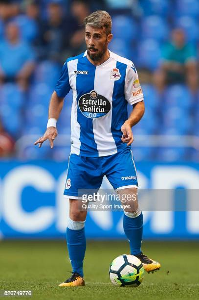 Luisinho Correia of Deportivo de La Coruna runs with the ball during the Pre Season Friendly match between Deportivo de La Corua and West Bromwich...