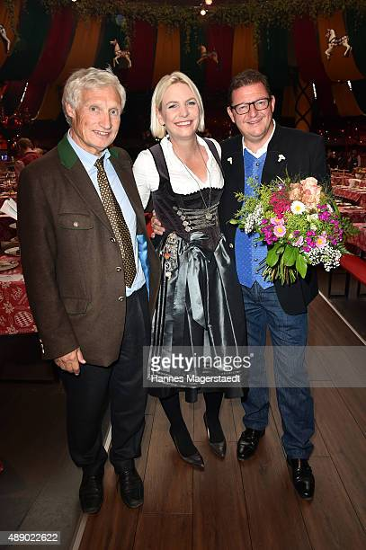 Luitpold Prinz von Bayern Tina Kraetz and during the Hippodrom grand opening ahead of the Oktoberfest 2015 at Postpalast on September 18 2015 in...