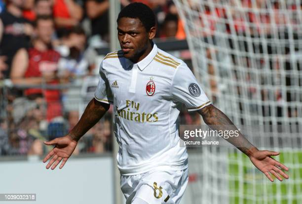Luiz Adriano from Mailand celebrates at the 20 score during the test match between SC Freiburg and AC Mailand in the Schwarzwaldstadion Freiburg...