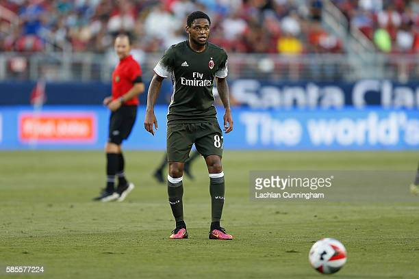 Luiz Adriano of AC Milan in action against Liverpool FC during the International Champions Cup match at Levi's Stadium on July 30 2016 in Santa Clara...