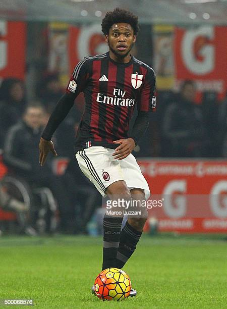 Luiz Adriano of AC Milan in action during the TIM Cup match between AC Milan and FC Crotone at Stadio Giuseppe Meazza on December 1 2015 in Milan...