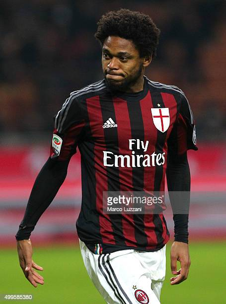 Luiz Adriano of AC Milan looks on during the Serie A match between AC Milan and UC Sampdoria at Stadio Giuseppe Meazza on November 28 2015 in Milan...