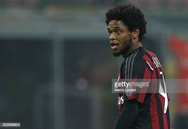 Luiz Adriano of AC Milan looks on during the TIM Cup match between AC Milan and FC Crotone at Stadio Giuseppe Meazza on December 1 2015 in Milan Italy