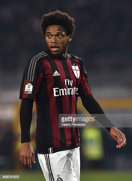 Luiz Adriano of AC Milan looks on during the TIM Cup match between US Alessandria and AC Milan at Olimpico Stadium on January 26 2016 in Turin Italy