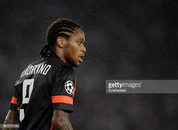 Luiz Adriano of FC Shakhtar Donetsk in action during the UEFA Champions League group stage match between Real Sociedad de Futbol and Shakhtar Donetsk...