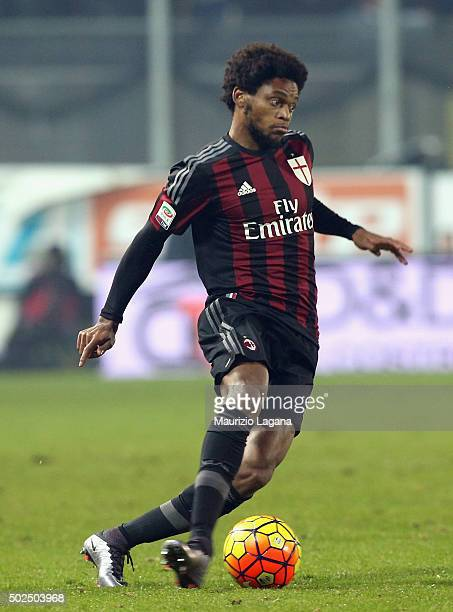 Luiz Adriano of Milan during the Serie A match between Frosinone Calcio and AC Milan at Stadio Matusa on December 20 2015 in Frosinone Italy