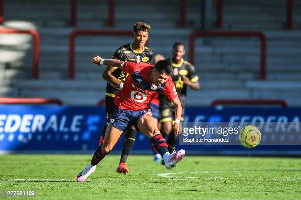 Luiz ARAUJO of Lille during the Friendly match between Lyon and Mouscron on July 18 2020 in Mouscron Belgium