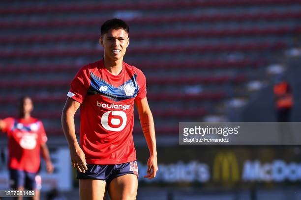 Luiz ARAUJO of Lille during the preseason soccer friendly match between Lille and Mouscron on July 18 2020 in Mouscron Belgium