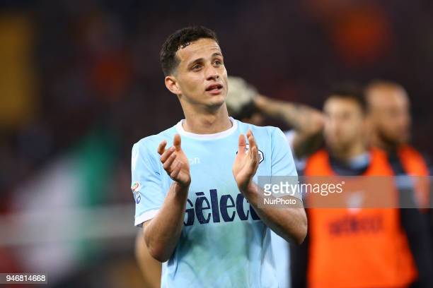 Luiz Felipe of Lazio during the serie A match between SS Lazio and AS Roma at Stadio Olimpico on April 15 2018 in Rome Italy
