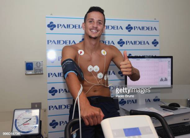 Luiz Felipe of SS Lazio attends the medical tests on July 11 2018 in Rome Italy
