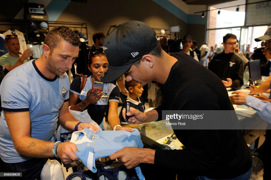 Luiz Felipe of SS Lazio during the SS Lazio players visit to the club's store on October 6, 2017 in Rome, Italy.