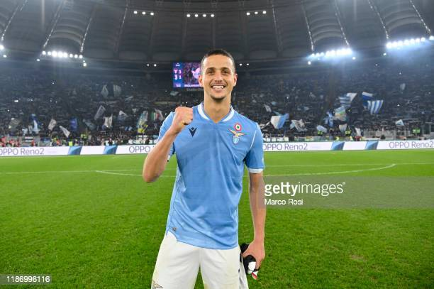 Luiz Felipe Ramos of SS Lazio celebrates a winner game after the Serie A match between SS Lazio and Juventus at Stadio Olimpico on December 7 2019 in...