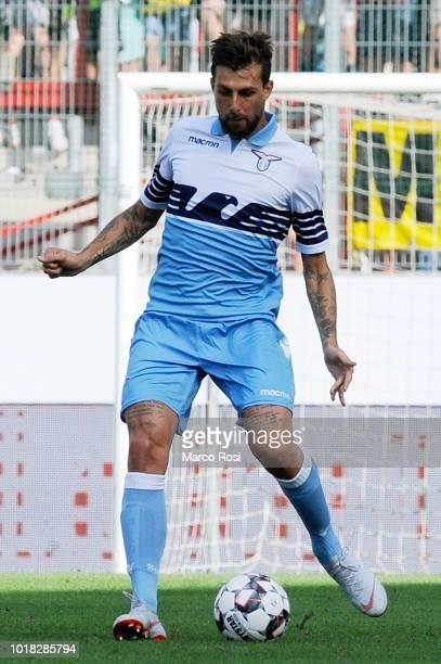 Luiz Francesco Acerbi of SS Lazio in actin during the Borussia Dortmund v Lazio PreSeason Friendly at the Essen Stadium on August 12 2018 in Essen...