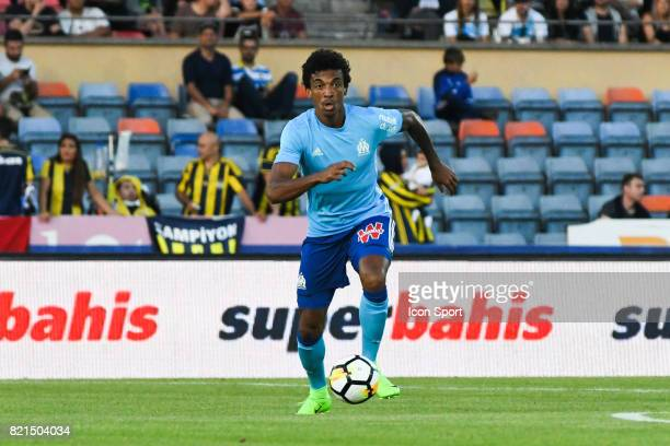 Luiz Gustavo during the friendly match between Olympique de Marseille and Fenerbahce on July 15 2017 in Lausanne Switzerland