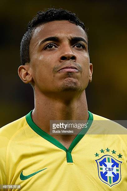 Luiz Gustavo of Brazil looks on before a match between Brazil and Peru as part of 2018 FIFA World Cup Russia Qualifiers at Arena Fonte Nova on...