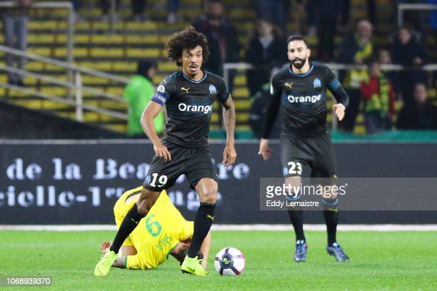 Luiz Gustavo of Marseille during the French Ligue 1 match between FC Nantes and Olympique de Marseille on December 5 2018 in Nantes France