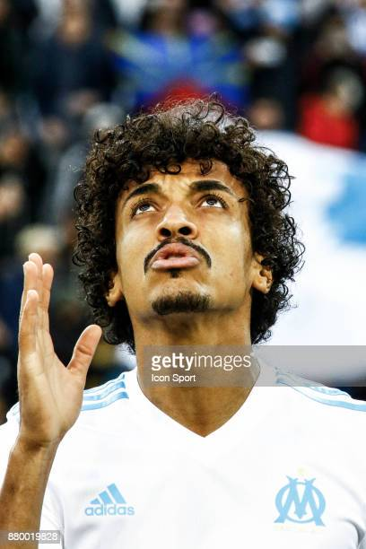 Luiz Gustavo of Marseille during the Ligue 1 match between Olympique Marseille and EA Guingamp at Stade Velodrome on November 26 2017 in Marseille