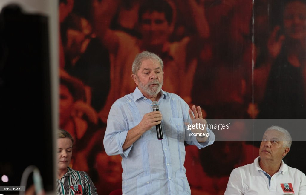 Lula Launches Presidential Bid After Graft Conviction Upheld : News Photo