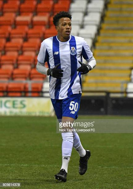 Luiz Palhares of Porto during the Liverpool v Porto Premier League International Cup game at Leigh Sports Village on February 28 2018 in Leigh...