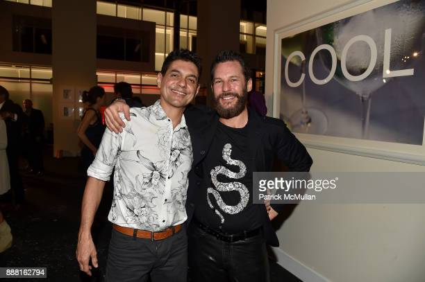 Luiz Rodrigues and Ryan Guertin attend the Unveiling of White Square by Richard Meier Partners at Citigroup Center on December 7 2017 in Miami Florida