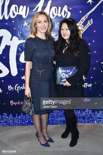 Luiza Petre and Susan Shin attend 'Follow Your Star' Book Launch at 800 B Fifth Avenue on November 30 2017 in New York City