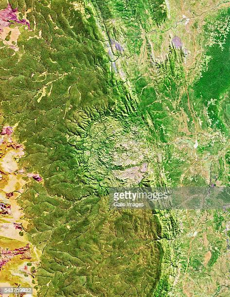 Luizi Crater located in the south eastern region of the Democratic Republic of the Congo on June 19 2016 Luizi Crater was created by a large...