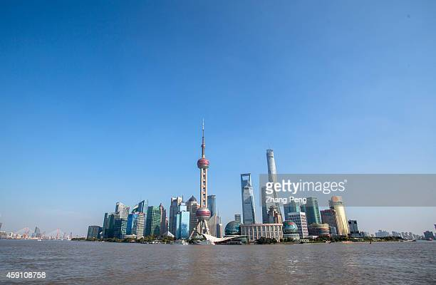 Lujiazui financial and trade zone seen from the Bund On Nov 17 the ShanghaiHong Kong Stock Connect is set to officially launch The ShanghaiHong Kong...