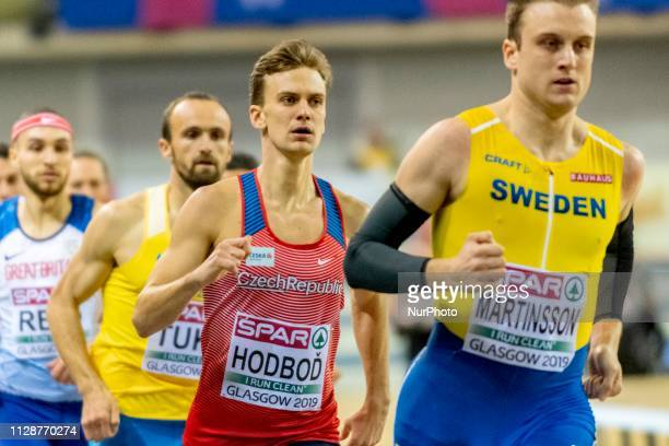 Luk competing in the 800m Men event during day ONE of the European Athletics Indoor Championships 2019 at Emirates Arena in Glasgow Scotland United...
