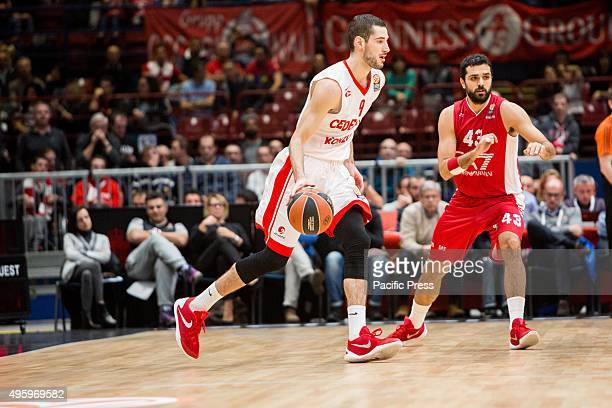Luka Babic of Cedevita Zagreb during their match against EA7 Emporio Armani Milan at Euroleague Basketball Round 4.
