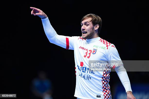 Luka Cindric of Croatia during the Quarter Final World Championship match between Spain and Croatia at on January 24 2017 in Montpellier France