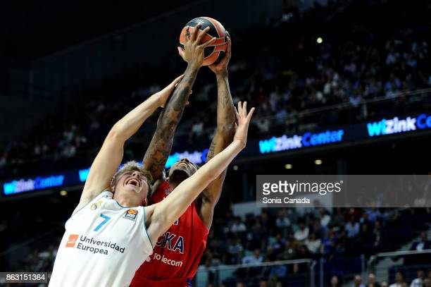 Luka Doncic #7 guard of Real Madrid during the 2017/2018 Turkish Airlines Euroleague Regular Season Round 2 game between Real Madrid and CSKA Moscow...