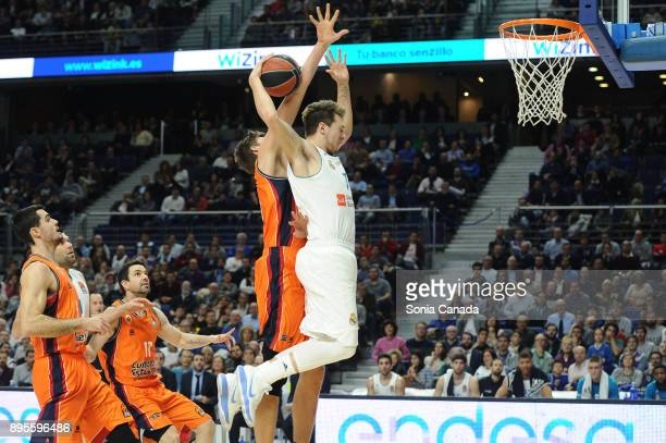 Luka Doncic #7 guard of Real Madrid during the 2017/2018 Turkish Airlines Euroleague Regular Season Round 13 game between Real Madrid v Valencia...