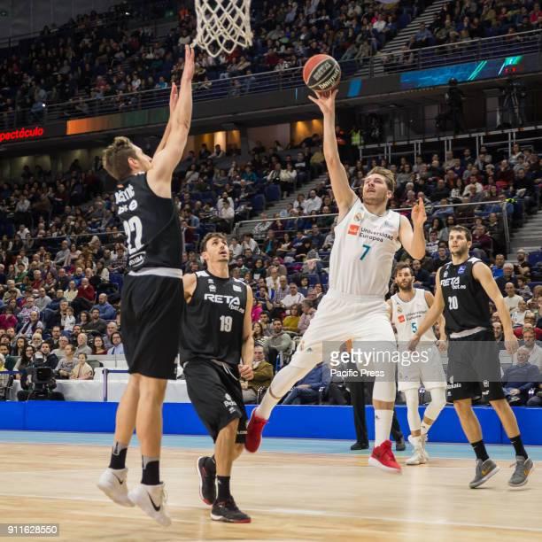 Luka Doncic during Real Madrid victory over RetaBet Bilbao Basket in Liga Endesa regular season game celebrated in Madrid at Wizink Center
