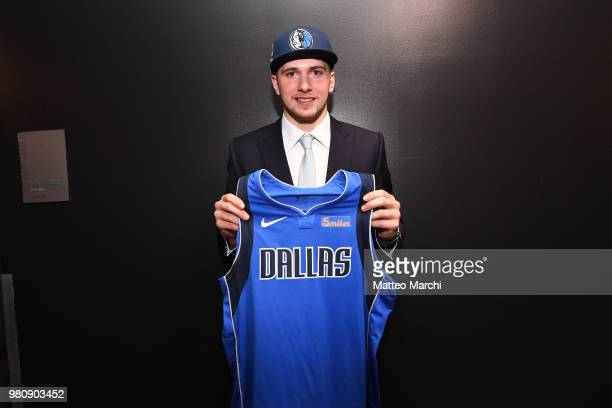 Luka Doncic is photographed after being selected number three overall during the 2018 2018 NBA Draft on June 21 2018 in Brooklyn NY NOTE TO USER User...