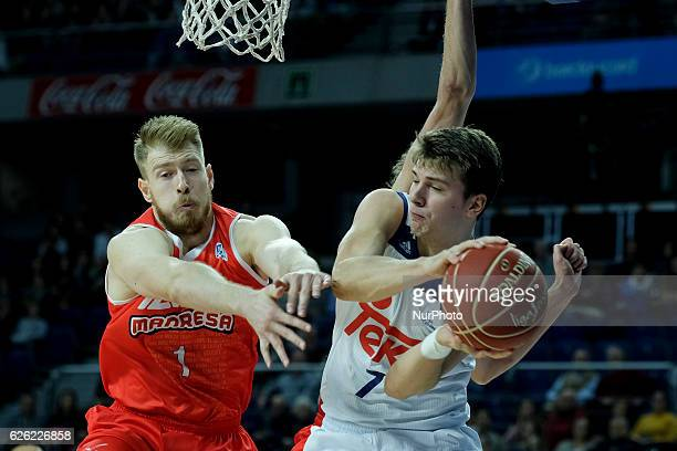 Luka Doncic of Real Madrid during the ACB basketabll league match between Real Madrid vs Manresa held at the Sports Palace in Madrid Spain on 27...
