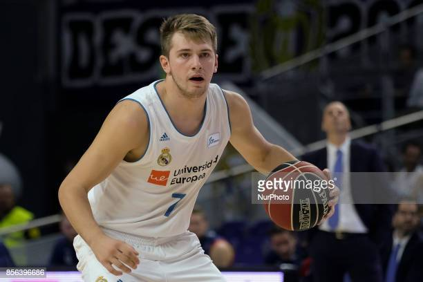 Luka Doncic of Real Madrid during the league match ACB between Real Madrid against MoraBanc Andorra played between the Palace of Sports of Madrid...