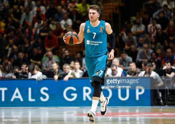Luka Doncic of Real Madrid in action during the 2017/2018 Turkish Airlines EuroLeague Regular Season game between Crvena Zvezda mts Belgrade and Real...
