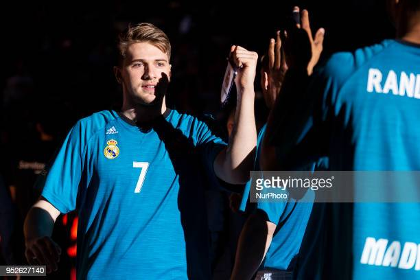 Luka Doncic of Real Madrid prior the Turkish Airlines Euroleague Play Offs Game 4 between Real Madrid v Panathinaikos Superfoods Athens at Wizink...
