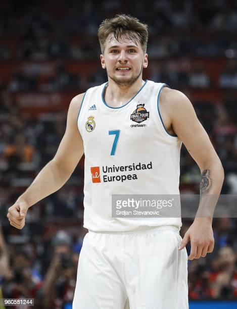 Luka Doncic of Real Madrid reacts during the Turkish Airlines Euroleague Final Four Belgrade 2018 Final match between Real Madrid and Fenerbahce...