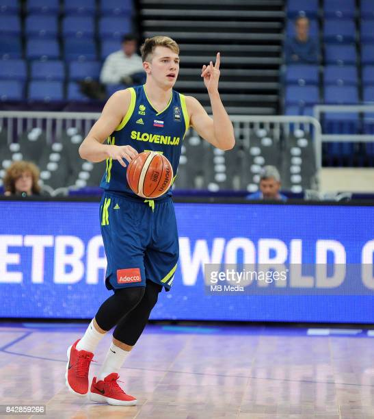 Luka Doncic of Slovenia in action during the FIBA Eurobasket 2017 Group A match between Iceland and Slovenia on September 5 2017 in Helsinki Finland